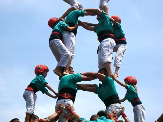 Spain_Catalan_Barcelona_Castells Human Tower