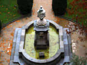 Fountain in the garden of the Reina Sofia Museum
