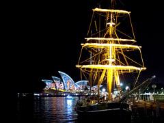 Vivid Sydney Tall Ship Dinner Cruise