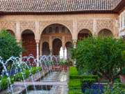 Gardens of the Generalife in Spain