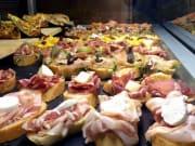Cicchetti, cold cuts, meat, bread, venice, italy