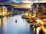 Venice Grand Canal, night