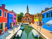 Colorful architecture of Burano, Italy