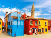 The colorful houses in Burano