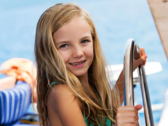 Girl at Helm