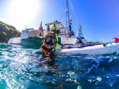 Snorkeler with SNUBA