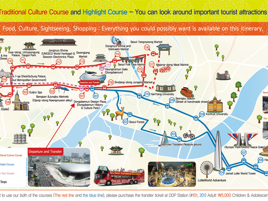 Seoul hop on hop off open top bus ticket seoul tours activities citysightseeing seoul map e gumiabroncs Images