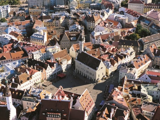 Tallinn Town Hall Square by Toomas Volmer