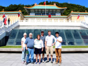 tourists taking photos at National Palace Museum