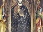 Grotte Vaticane, Confessione, Nicchia dei Palli con la figura del Cristo