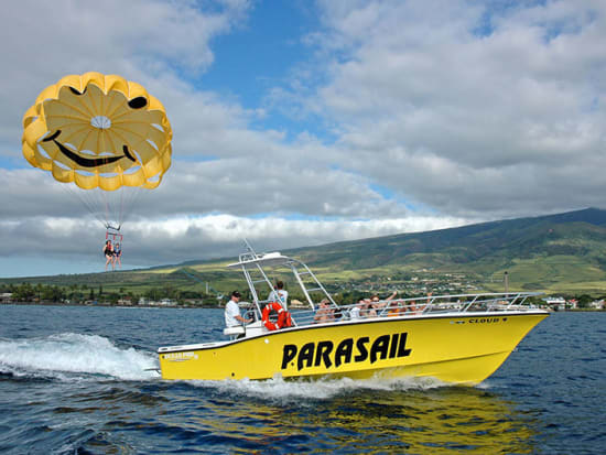 Enjoy A Stunning Birds Eye View Of Hawaii S West Maui As You Parasail Along The Captivating Kaanapali Coastline From May Through December
