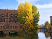 Old Town near the Pegnitz River in Nuremberg
