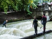 Eisbach River Surfing in Munich
