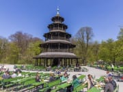 The Chinese Tower in the English Garden at Munich
