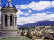 Cuenca city over the cathedral-crop