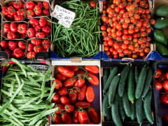 florence, italy, market, vegetables, produce