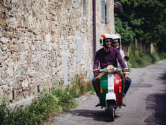 vespa, tuscany, tour, countryside