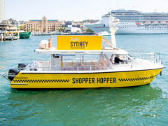 sydney yellow shopper hopper boat at the harbour