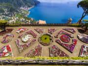 Famous Amalfi Coast view from Ravello Rufolo Villa
