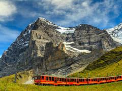 train, swiss alps, cogwheel, switzerland