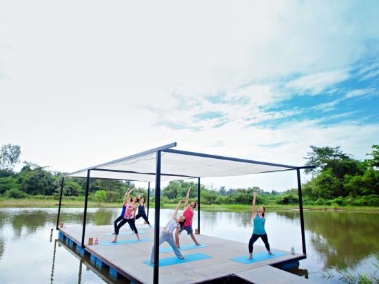 4.Museflower Retreat & Spa Chiang Rai.yoga class 2