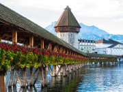 Lucerne, Switzerland, chapel bridge, Kapellbrücke