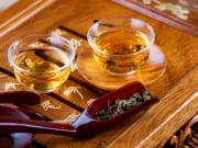 Enjoy Chinese tea at a local tea house