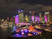Vivid_Sydney_Festival skyscrapers colorful lights