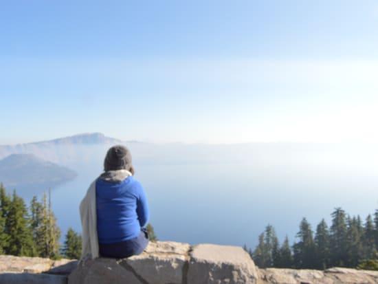 Crater Lake sitting