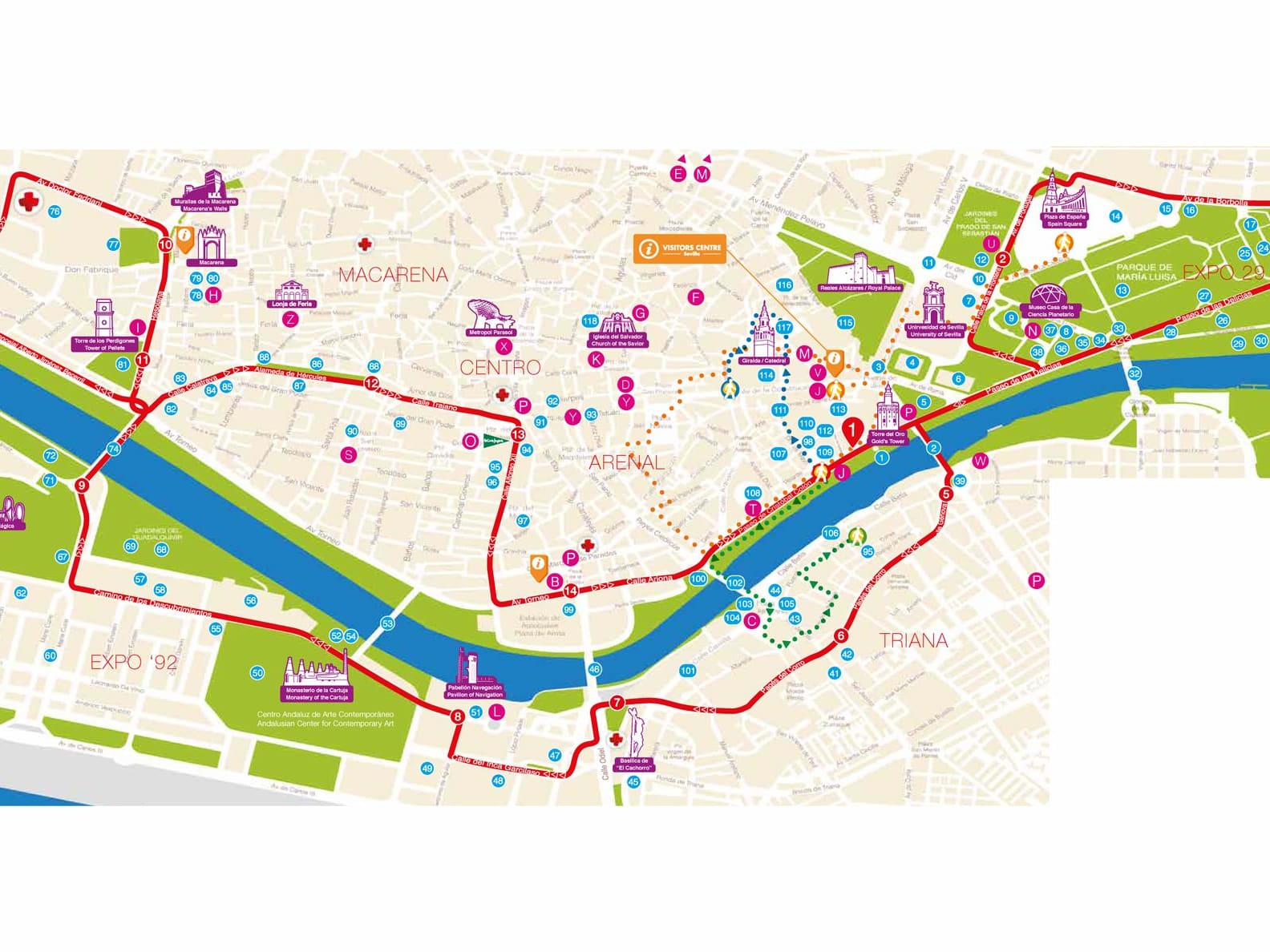 Seville Hop-On Hop-Off City Sightseeing Bus Tour, Seville tours ...
