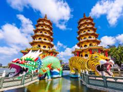 Taiwan Kaohsiung Dragon and Tiger Pagodas