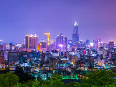 taiwan kaohsiung cityscape at night guided tour