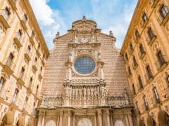 Exterior of Santa Maria de Montserrat Abbey