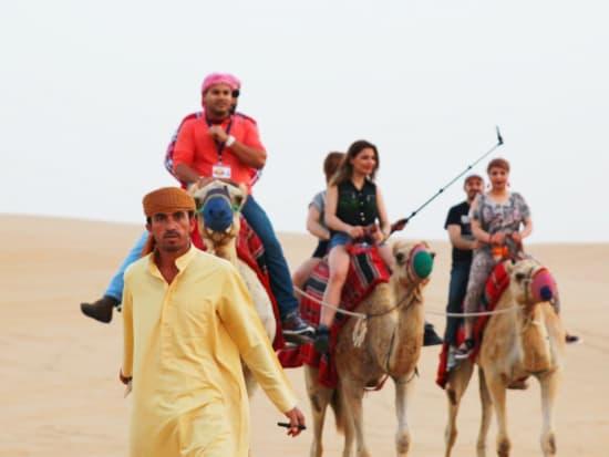 Dubai desert safari camel ride