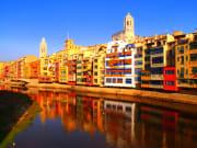 Spain, River Onyar, Houses