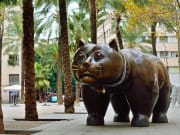 Botero Cat Sculpture, barcelona, spain