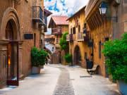 The quaint streets of Poble Espanyol
