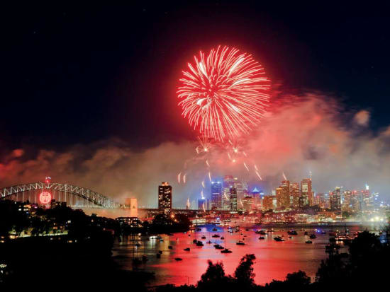Fireworks display in Sydney Harbour