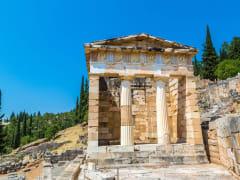 Greece, Delphi, Temple of Athena