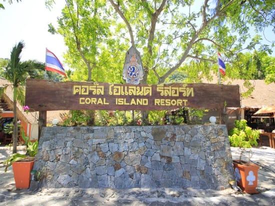 Coral Island Resort Sign