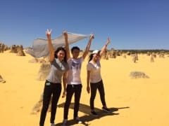 friends at pinnacles desert in australia