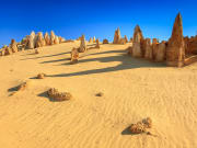 limestone formations at pinnacles desert australia