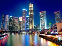 Singapore cityscapes at night
