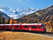 bernina express, train, switzerland