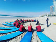 Surfing safety briefing