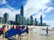 Surfing lessons in Australia