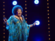 Amber Riley in Dreamgirls at the Savoy Theatre. Credit Brinkhoff