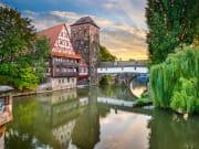 Nuremberg, Old town, Germany, Henkersteg Bridge