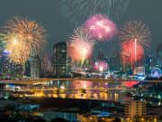 Fireworks display over Chao Phraya River