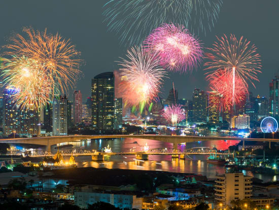 Fireworks display over Chao Phraya River